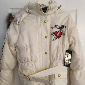 NWT Authentic Ed Hardy Down Coat